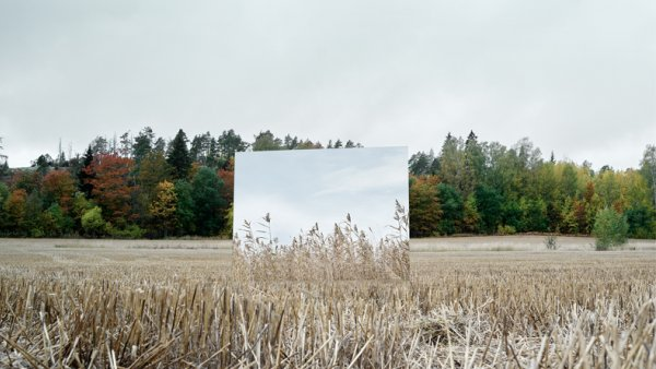 A mirror in the field
