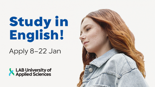 Study in English! Apply 8-22 January