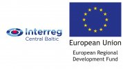 Interreg Central Baltic and EU flag with text reference ERDF